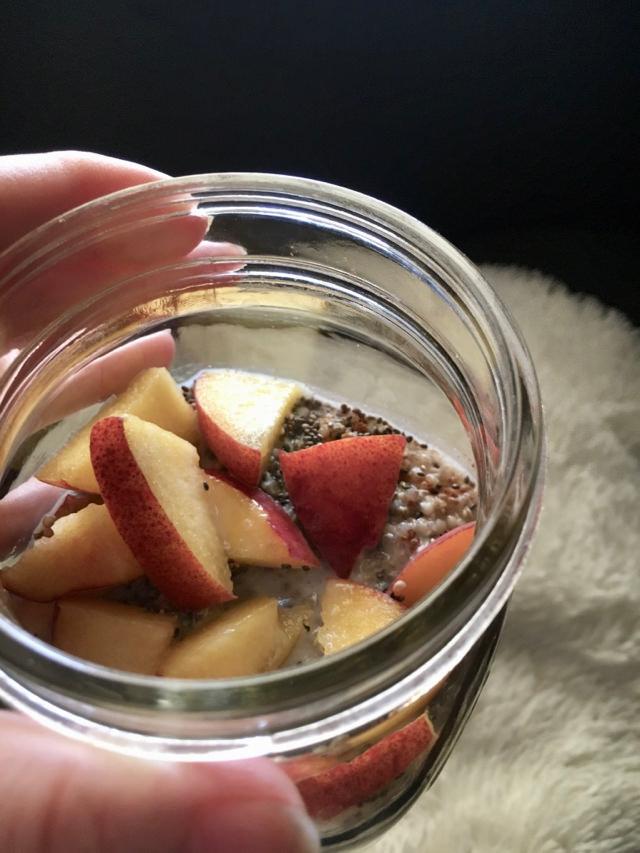 Peaches and Cream Quinoa Breakfast