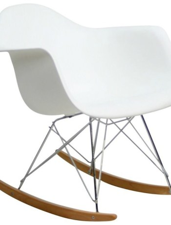White Mod Rocking Chair