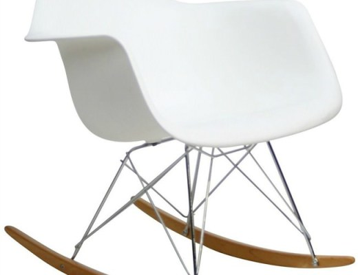 White Mod Rocking Chair