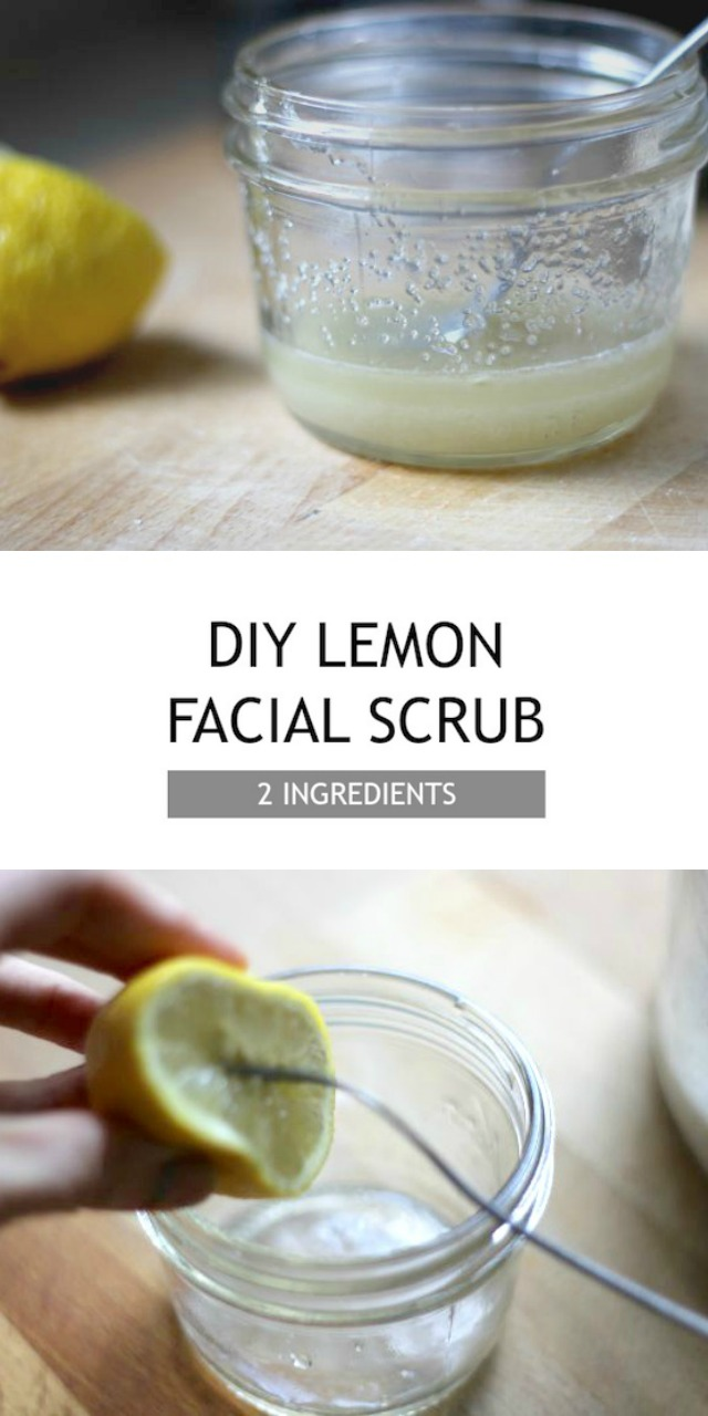 DIY 2 Ingredient Lemon Sugar Facial Scrub