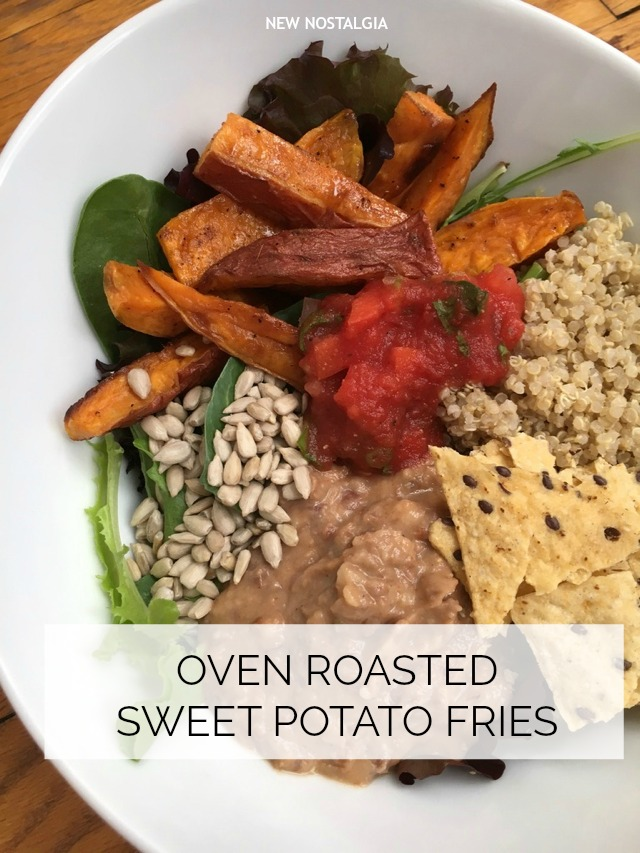 Vegetarian Lunch Bowl Sweet Potato Fries