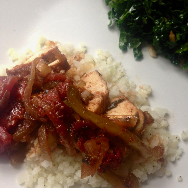 30 Minute Balsamic Chicken Recipe served with Cauliflower Rice
