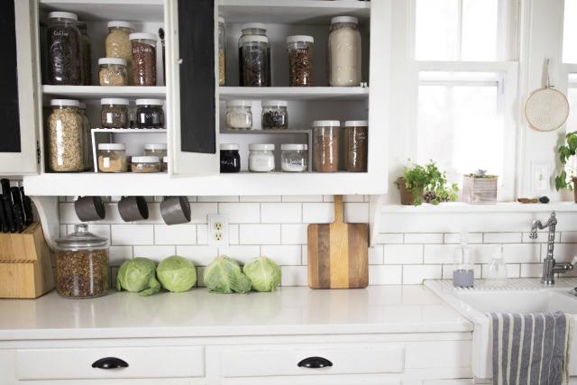 Pantry Goals -Organizing with mason jars