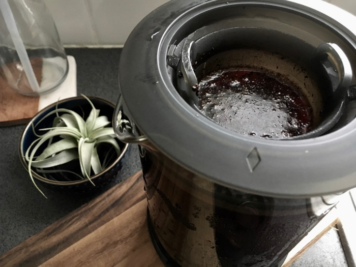 cold brew coffee grounds
