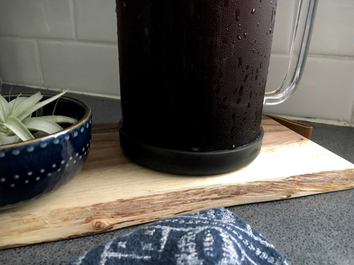 glass pitcher of cold brew