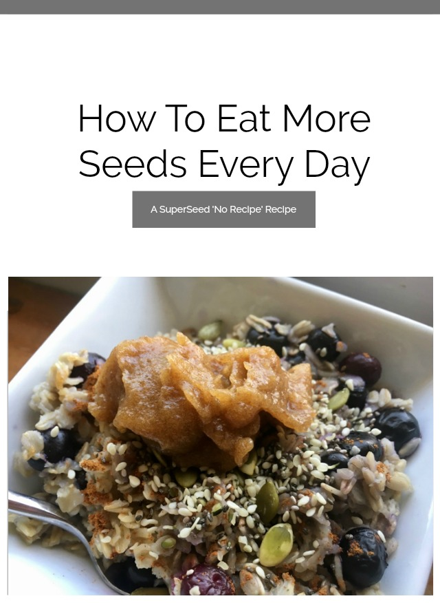 bowl of oats topped with super seeds