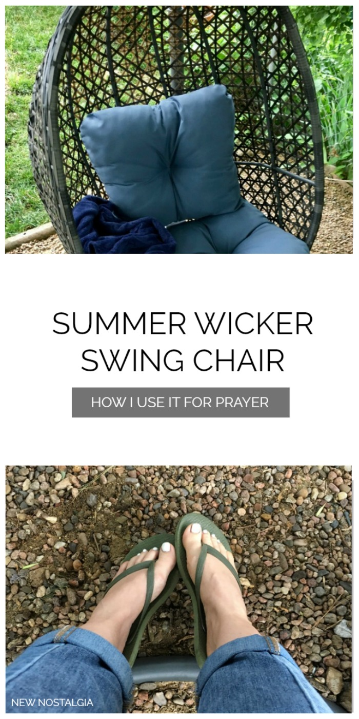 wicker summer prayer chair