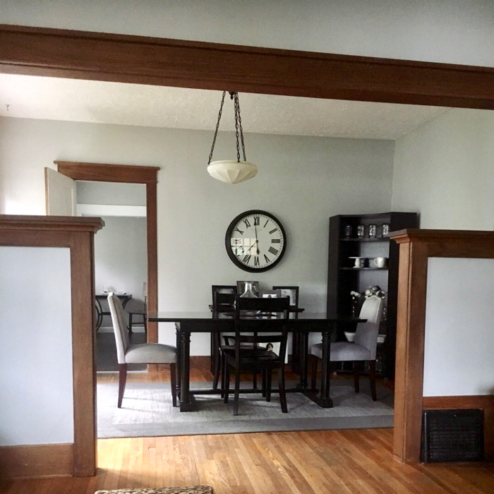 Living room with Repose Grey walls