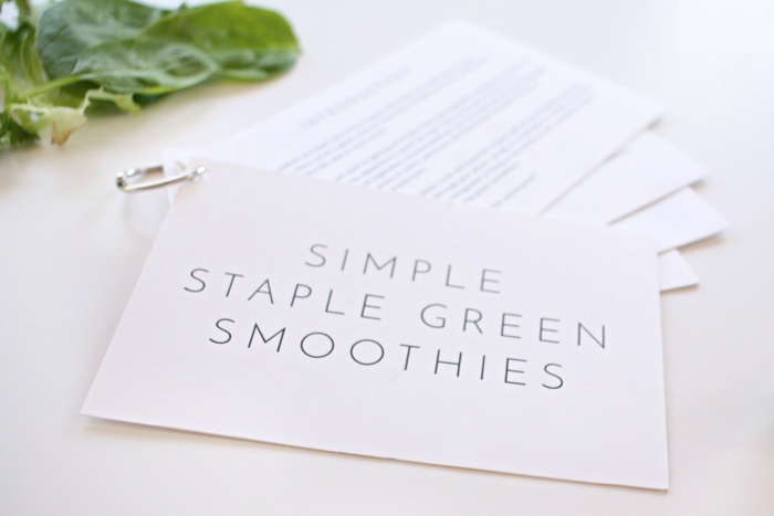 simple green smoothie recipe cards