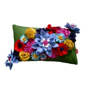 wool-felt-floral-cushion-in-green-multi