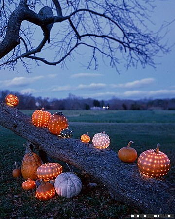 pumpkin lighting- Martha Stewart