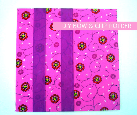 DIY bow and clip holder- amy+mayd