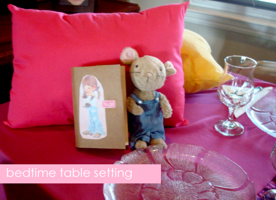 bedtime table setting- amy+mayd