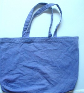DIY hand dyed bag