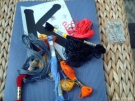 DIY string monogram art