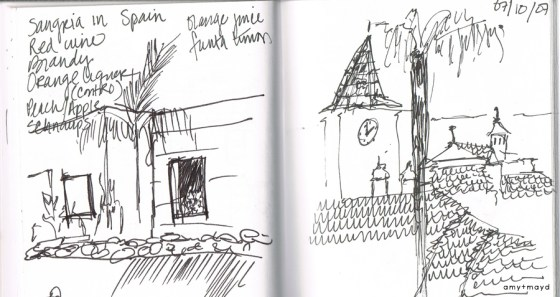 Spain travel sketch