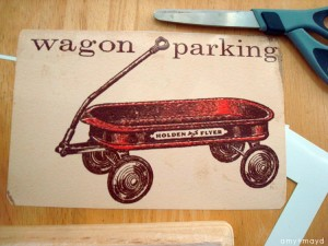 wagon parking sign