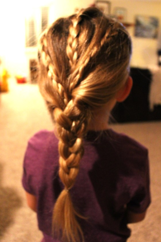 three small braids