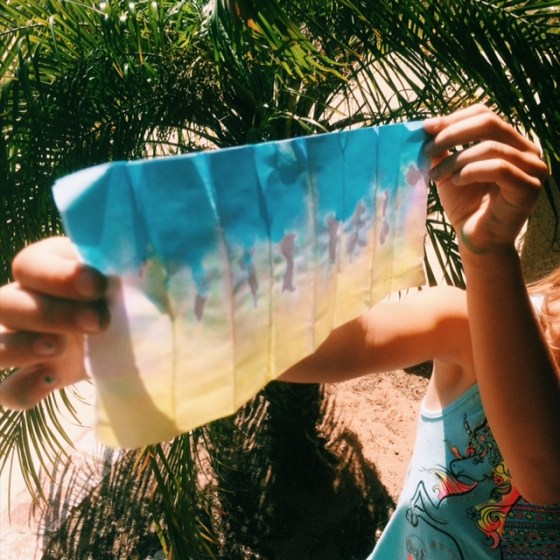 dip dye paper craft for kids