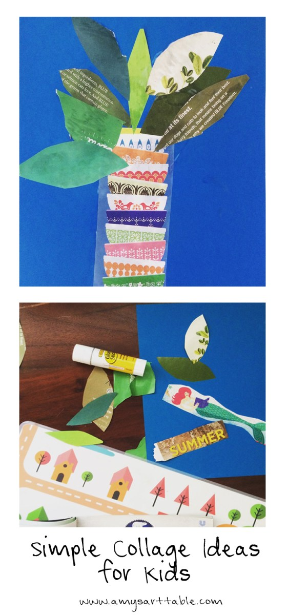Collage is such a fun activity for kids! Simply use old magazines to create a beautiful plant or Summer theme collage. Click through for our tutorial.