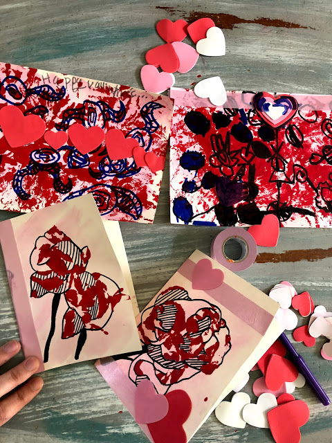 Check out these fun and easy Valentines Day Crafts, painting with roses!