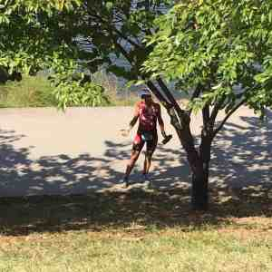 This is my friend Danielle who did finish Ironman Chattanooga but found herself going slower than usual on the Ironman Run course due to the heat.