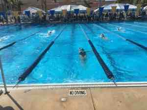 Daughter swimming Backstroke