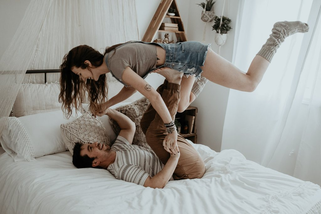 Couples in home session