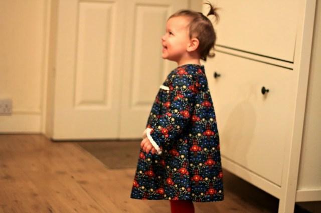 toddler wearing a dress
