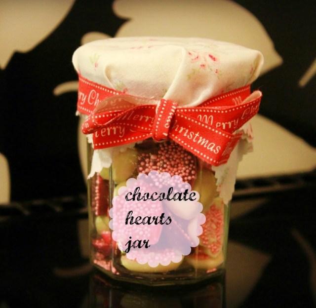 chocolate in a jam jar