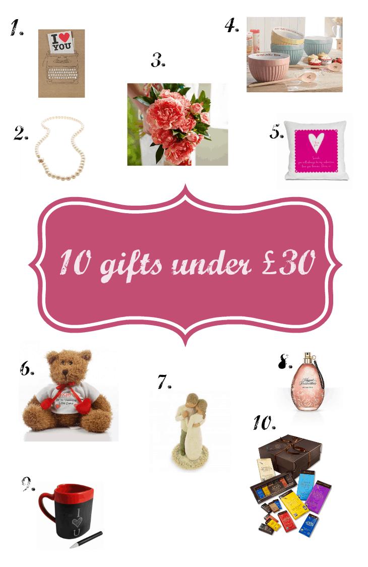 Valentine's 10 gifts under £30