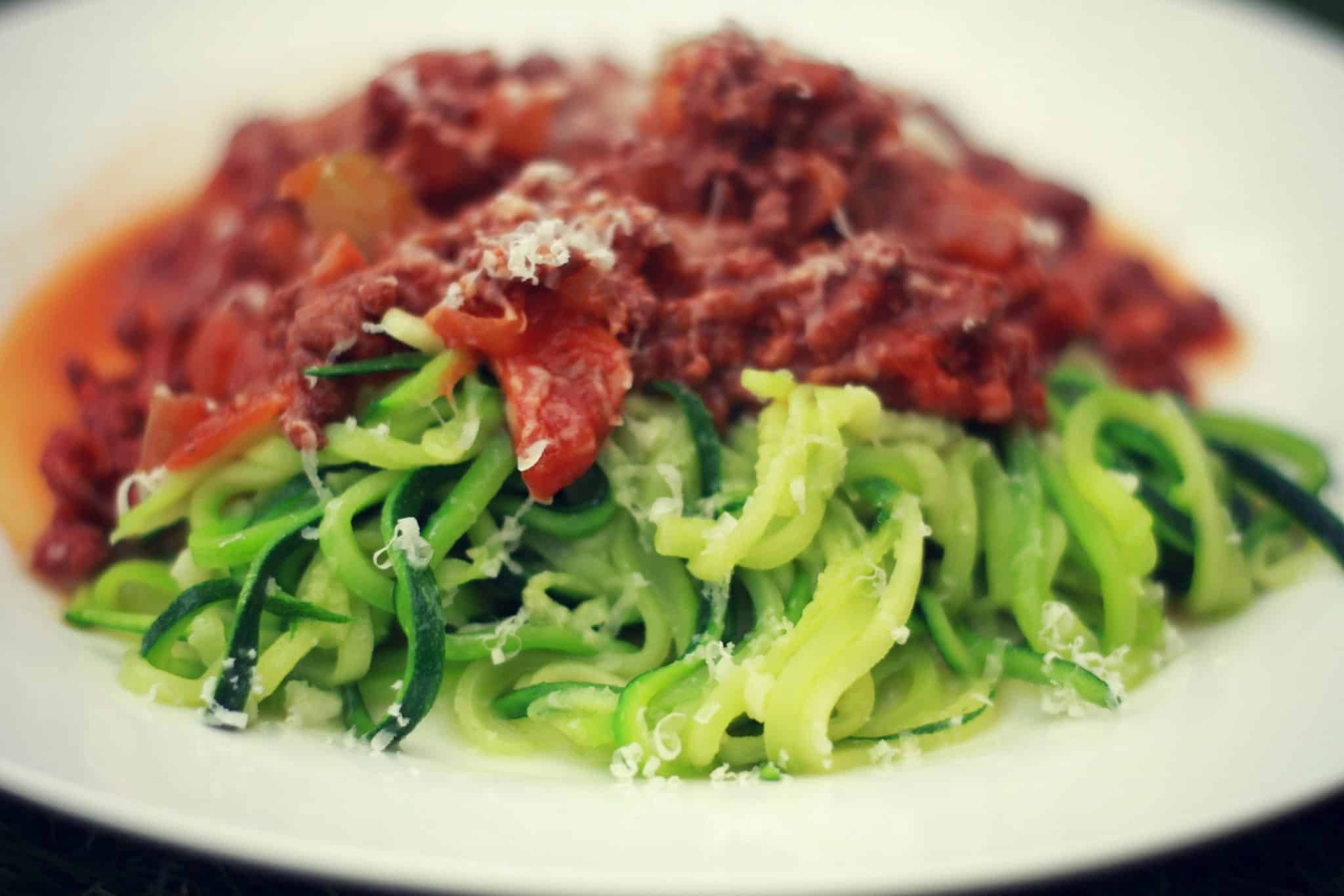 Simple bolognese with courgetti