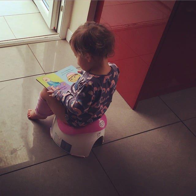 toddler on a potty