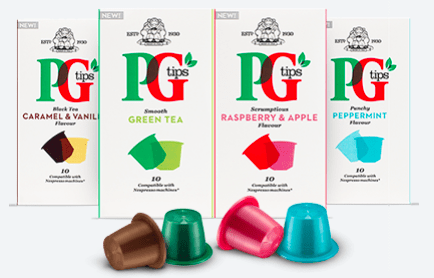 New capsules from PG tips compatible with Nespresso