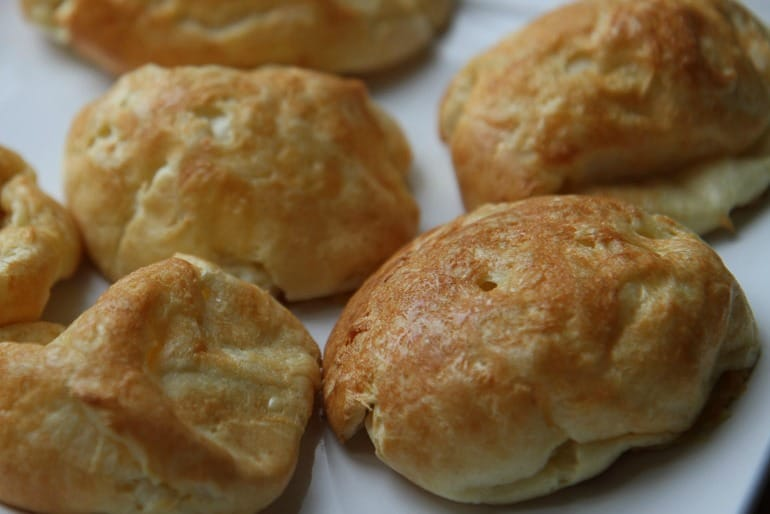 Gourgeres choux pastry buns with cheese
