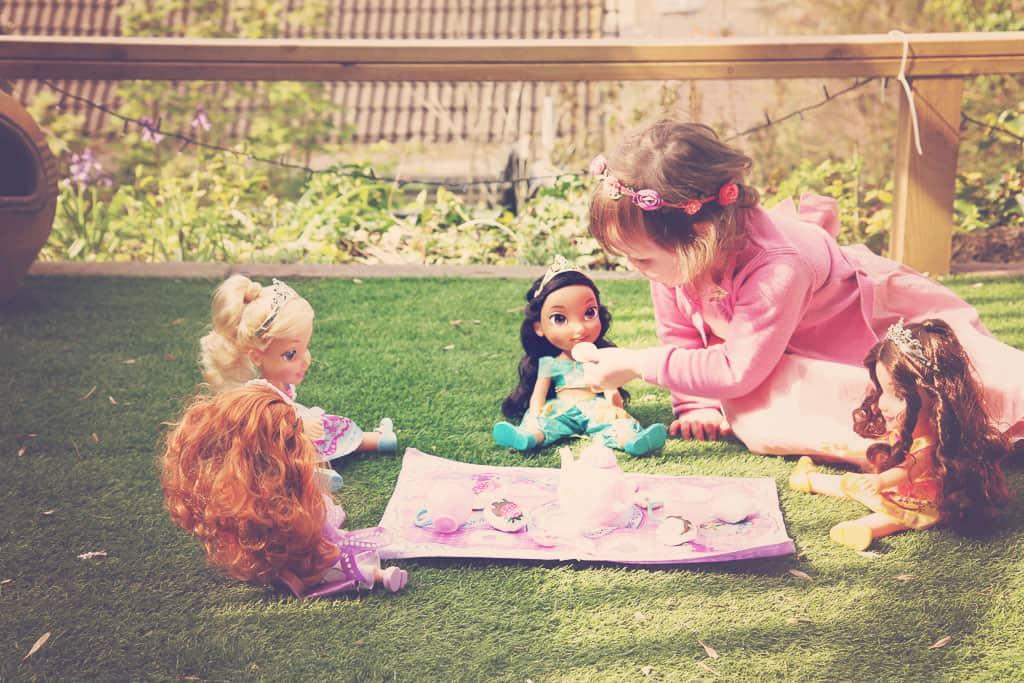 Tea party with #DisneyToddlerDolls