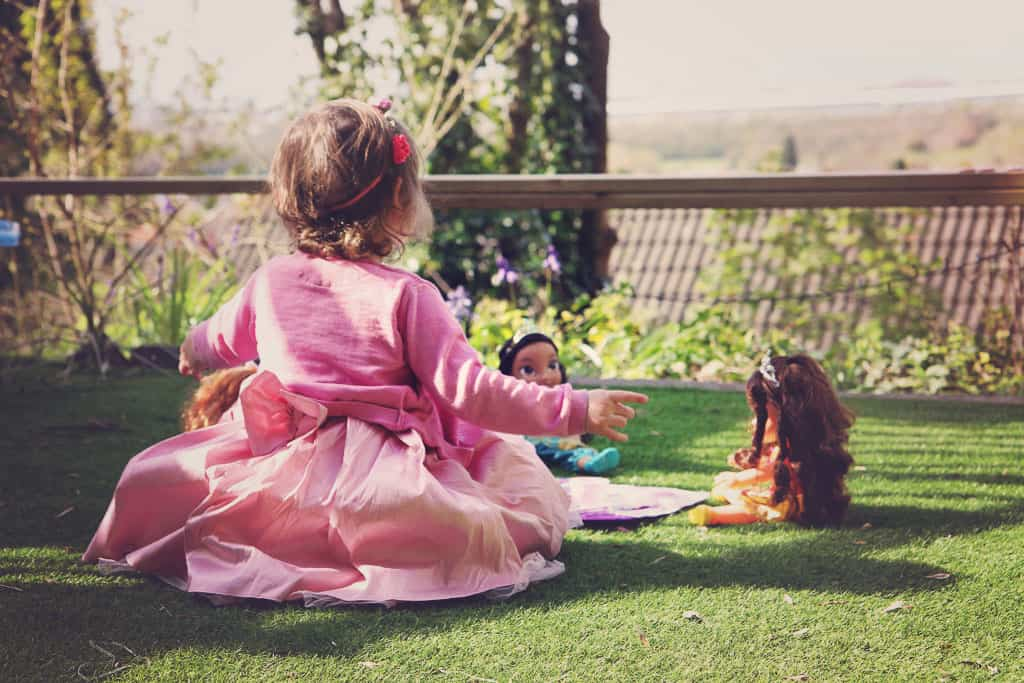 A tea party with the Princess Sofia the First tea set