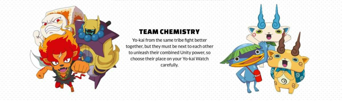 yo-kai watch team chemistry