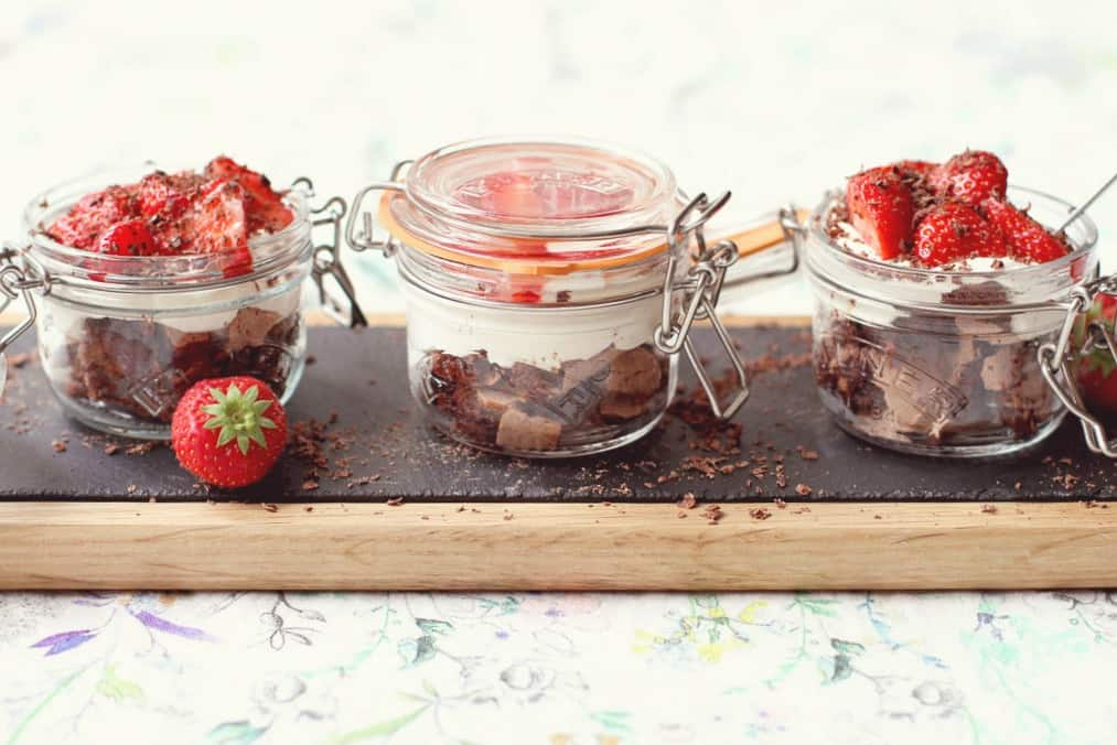 A trio of chocolate eton mess desserts perfect for entertaining