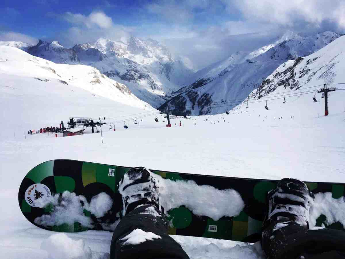 Snowboarding Val d'Isere
