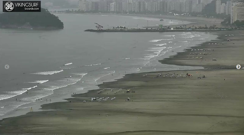 Santos Webcam – see me (or the waves) waving