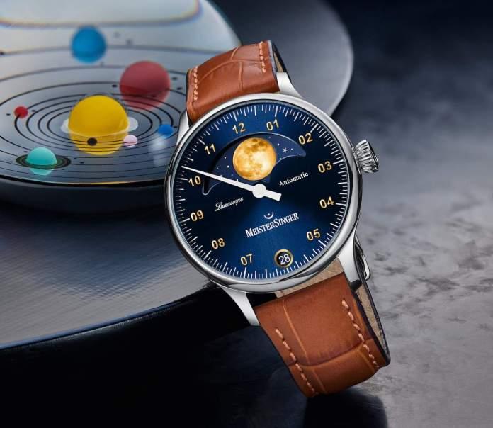 MeisterSinger Lunascope Gold Watch