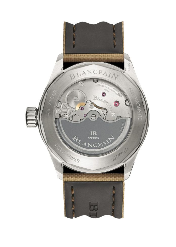 Blancpain Fifty Fathoms Day Date Desert Edition back