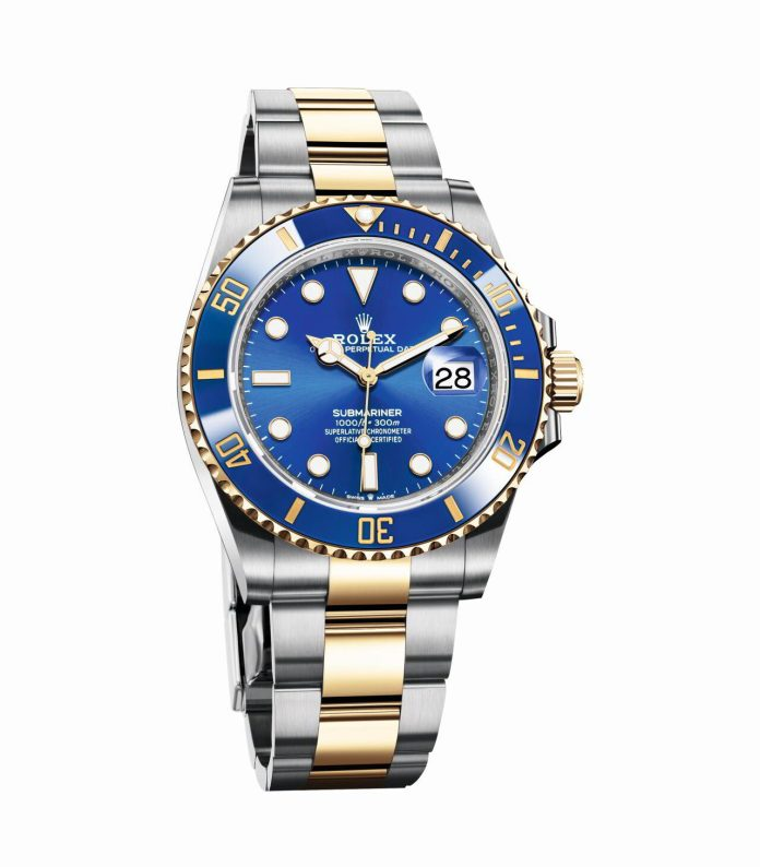 Oyster Perpetual Submariner Date 41mm Oystersteel and yellow gold e1607280710532