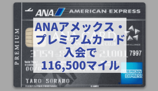 ANAアメックス・プレミアムカード入会で驚きの116,500マイル獲得できることが判明!持つべき人はどんな人?過去最大級のANAマイル大量獲得チャンス!