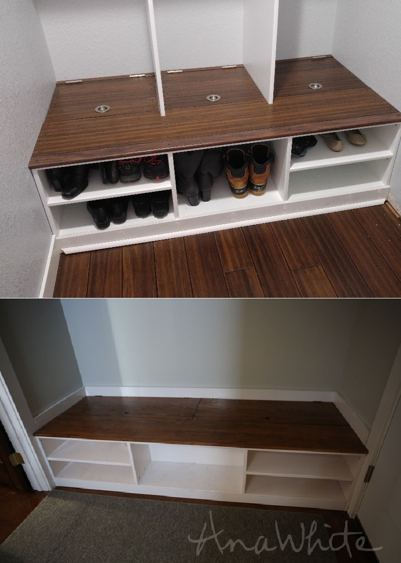Ana White Closet To Mudroom Conversion Diy Projects