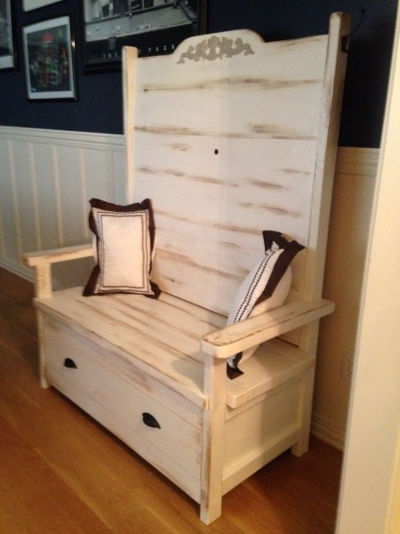 Ana White Rustic Hall Tree Bench Diy Projects