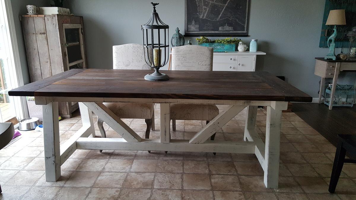Ana White 4x6 Truss Beam Farm Table DIY Projects