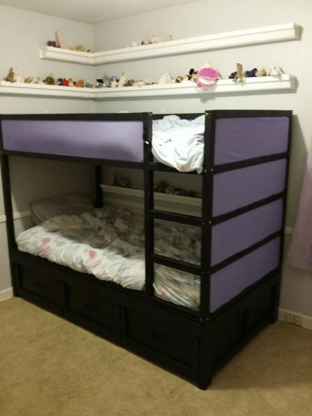 Ana White Daybed Converted To Fit Ikea Kura Bunk Bed