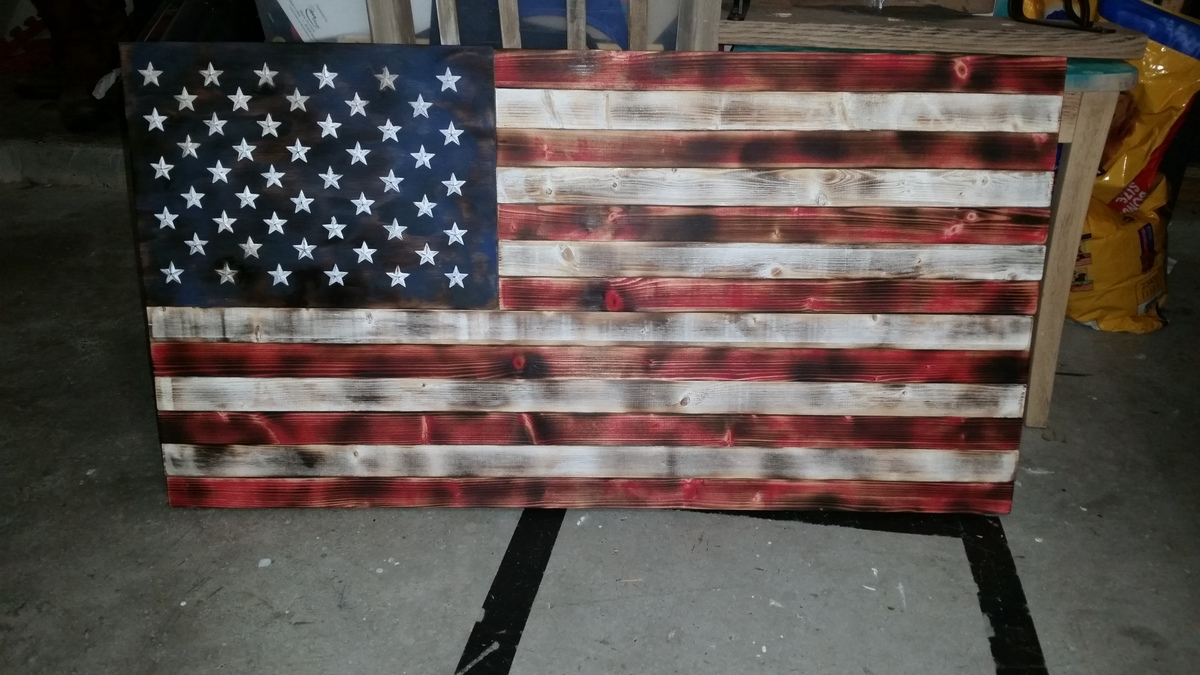 Ana White Rustic American Flag DIY Projects